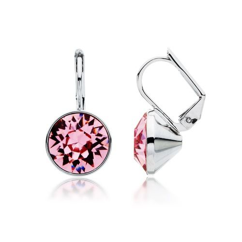 Bella Light Rose Crystal Drop Earrings with Swarovski® Crystals