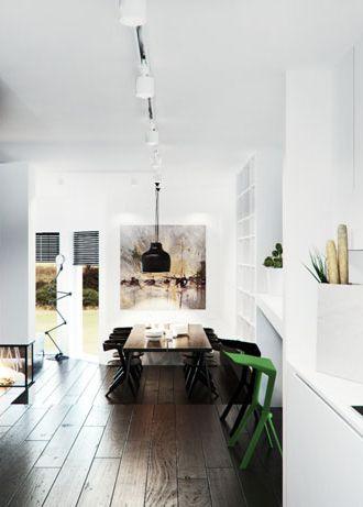 Dining room design POLAND - archi group. Jadalnia w domu jednorodzinnym.