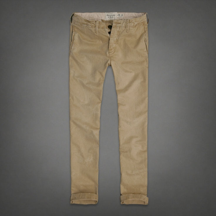 Mens A Skinny Chinos | Mens Pants | Abercrombie.co.uk