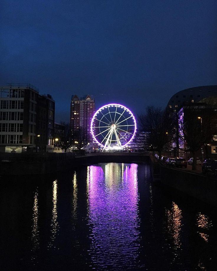Reuzenrad in Rotterdam - Instagram @Stadsblogger