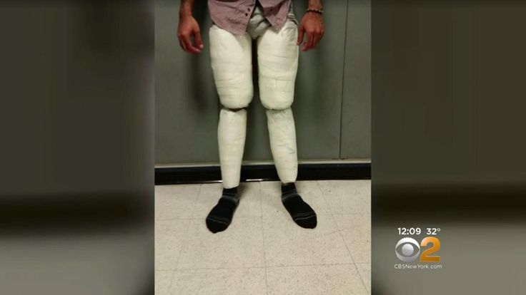 """Officers noticed something wasn't right when Juan Luperon's pants """"appeared to be rather snug"""""""