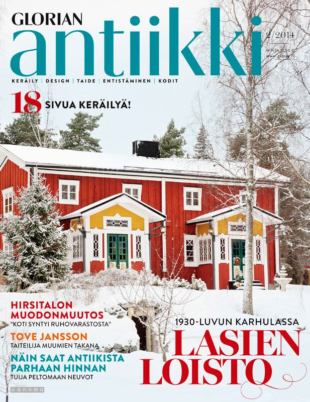 Magazine cover 2/2014. Red wooden house from southern Finland. Photo Sari Tammikari.