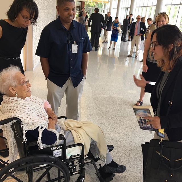 nasa_langley @nasa_langley Hall of Honor member Katherine Johnson meets an intern she inspired after today's induction ceremony @hiddenfiguresmovie #nasalangley100 NASA Langley Research Center 2017/06/02 03:55:59