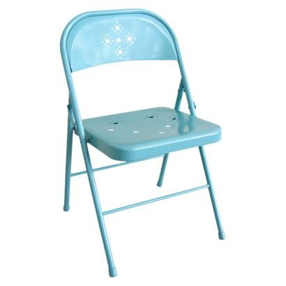 Folding Chair Perforated Teal Tar