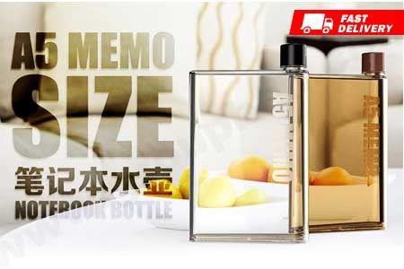 MemoBottle A5 Notebook Water Bottle 420ml asli murah hanya 69.990 https://www.groupbeli.com/view.php?id=908