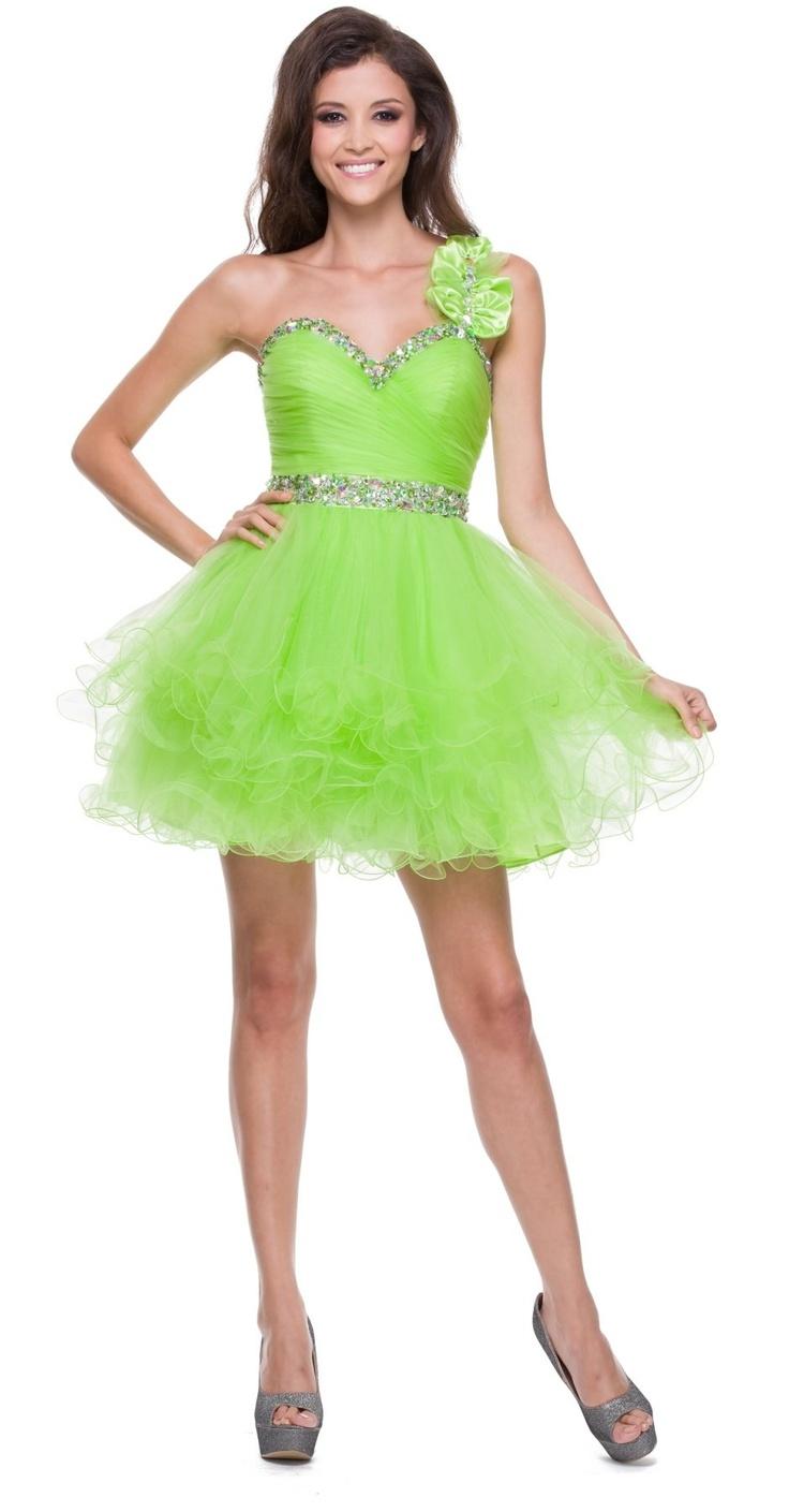 The 25 best lime green dresses ideas on pinterest lime green poofy tulle skirt lime green dress one shoulder sequin sweetheart ombrellifo Images