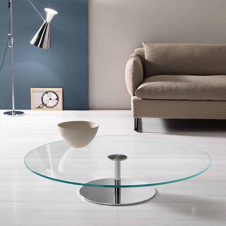 Farniente Round Glass And Metal Coffee Table By Tonelli   Klarity