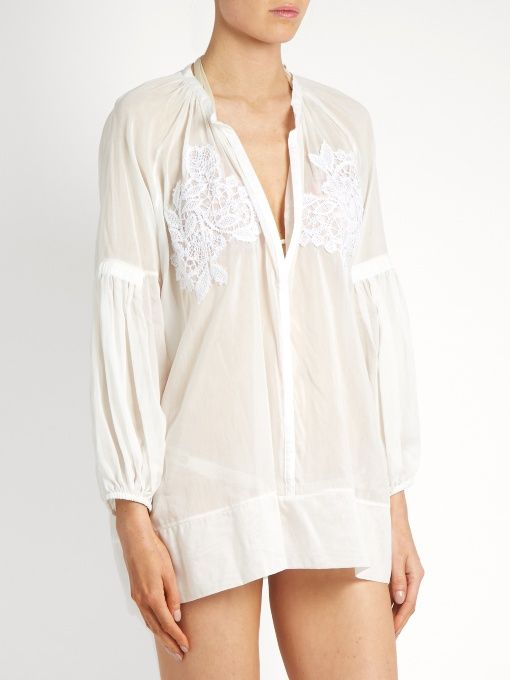 Cotton-blend voile cover-up | Lila Eugenie | MATCHESFASHION.COM US