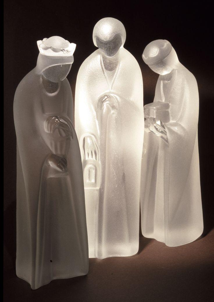 Heilige Drei Könige, Krippenfiguren - Schott Zwiesel, 1970er