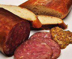 Homemade venison summer sausage