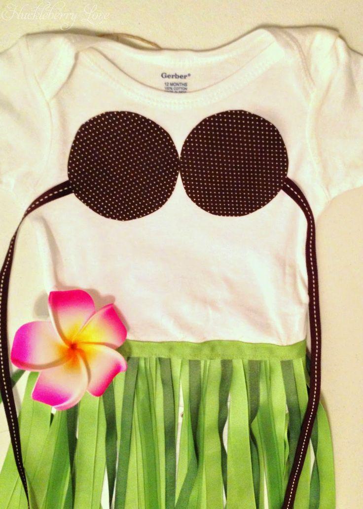 Huckleberry Love: Little Hula Girl Costume {Tutorial}                                                                                                                                                                                 More