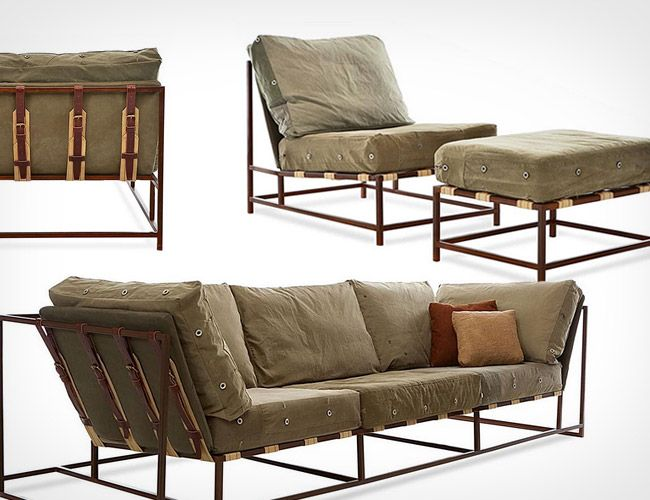 Masculine furniture. The Inheritance Collection by Stephen Kenn. Maybe for the man cave?