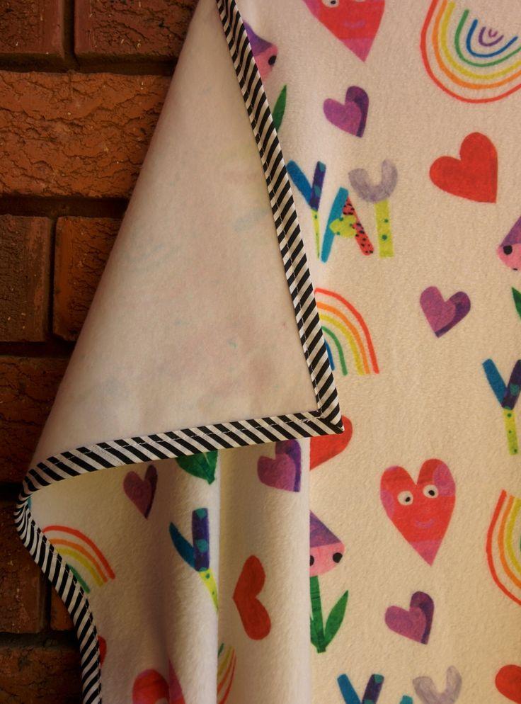 Baby Blanket - Fleece, cosy, cot blanket, handmade, digital printing, kids…