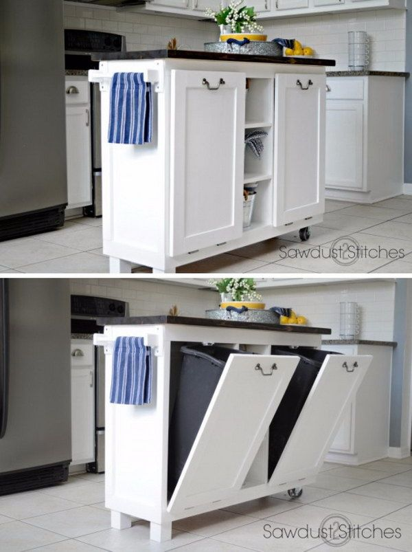25 creative hidden storage ideas for small spaces - Kitchen Island Small Space