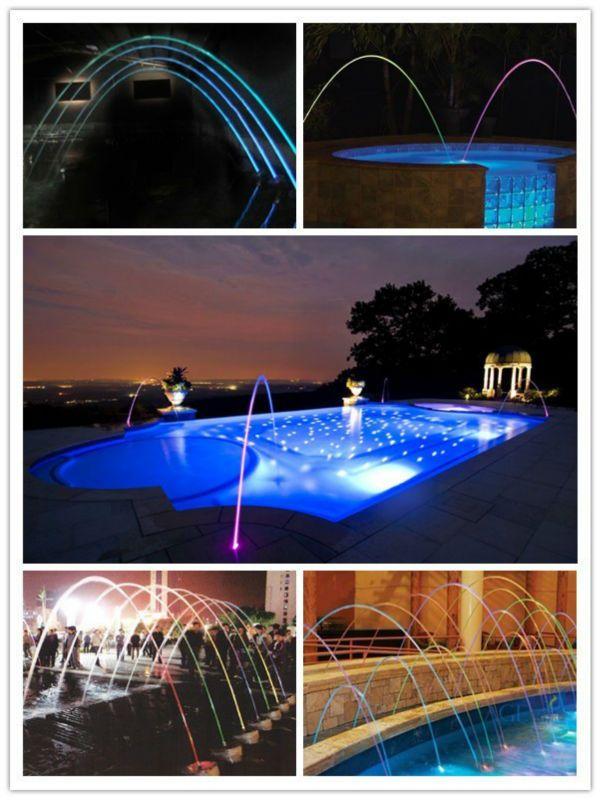 Laminar water jet fountain swiming pool laminar