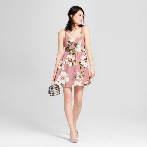 df59fe55a5e5 Lots of Love by Speechless Women s Floral Print Dress - Lots of Love by  Speechless (Juniors ) Mauve