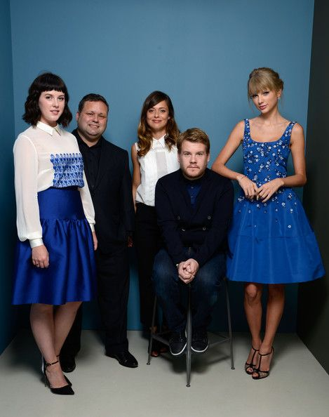 Taylor Swift Photos Photos - (L-R) Actress Alexandra Roach, singer Paul Potts, actress Valeria Bilello, actor James Corden and actress Taylor Swift of 'One Chance' pose at the Guess Portrait Studio during 2013 Toronto International Film Festival on September 9, 2013 in Toronto, Canada. - 'One Chance' Potraits in Toronto