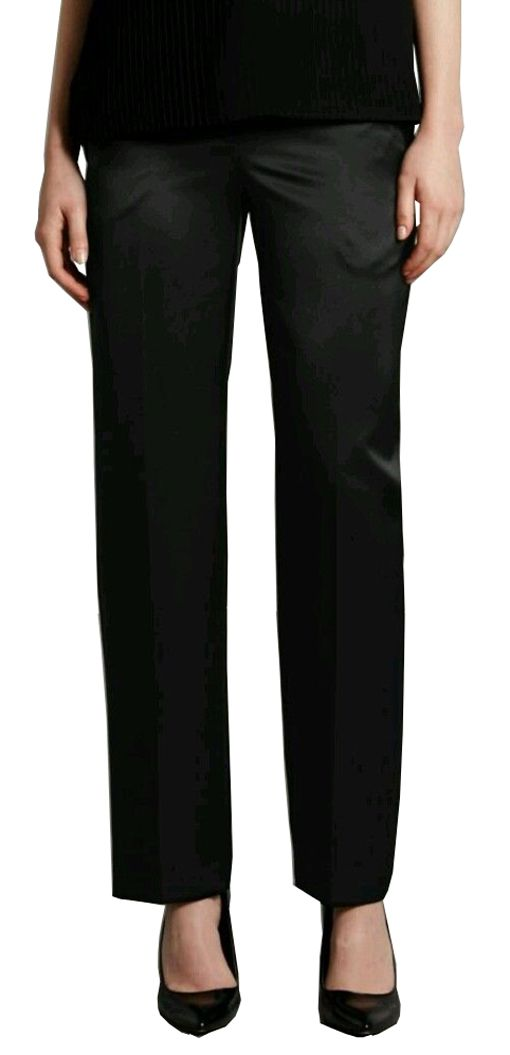 MARKS & SPENCER by AUTOGRAPH Black Satin Style Trousers T59/4000T.  UK16 Medium EUR44 Medium  MRRP: £45.00GBP - AVI Price: £26.99GBP