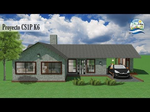 Diseños y Planos de Una Casa sencilla 1 piso: Proyecto CS1P K6 Recursos de Arquitectura - YouTube