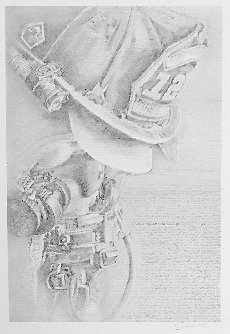 Gift Ideas for Fireman. Fireman Prayer. Drawing. Commision. Myworldbybella.com