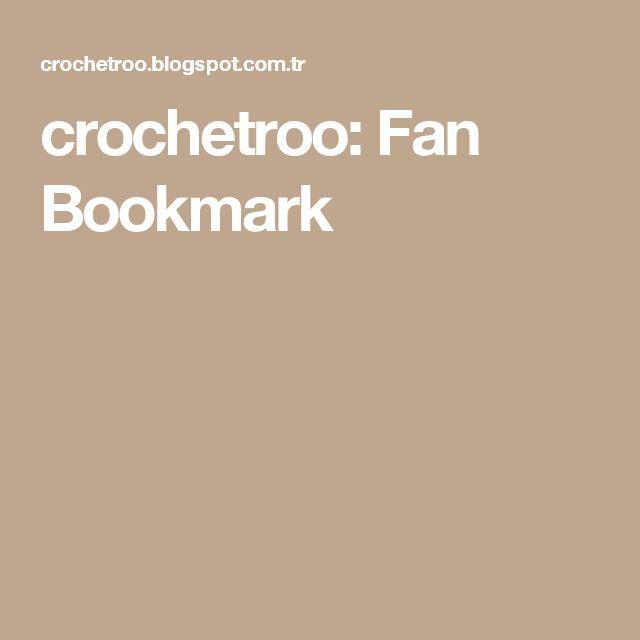 crochetroo: Fan Bookmark