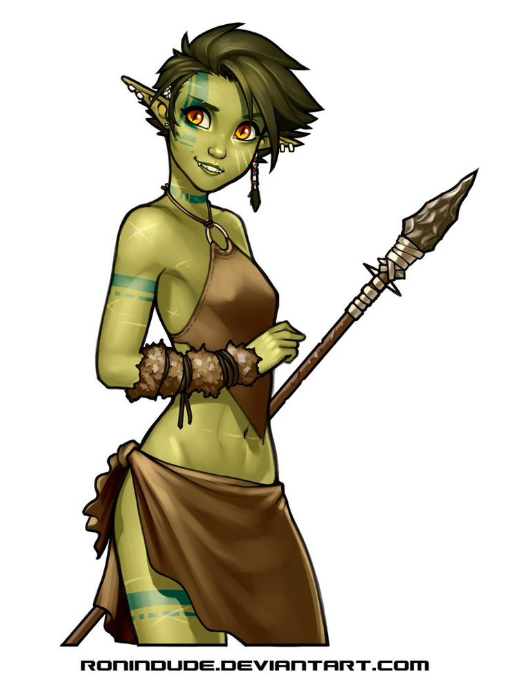 Half-Orc Girl by Ray Cornwell II