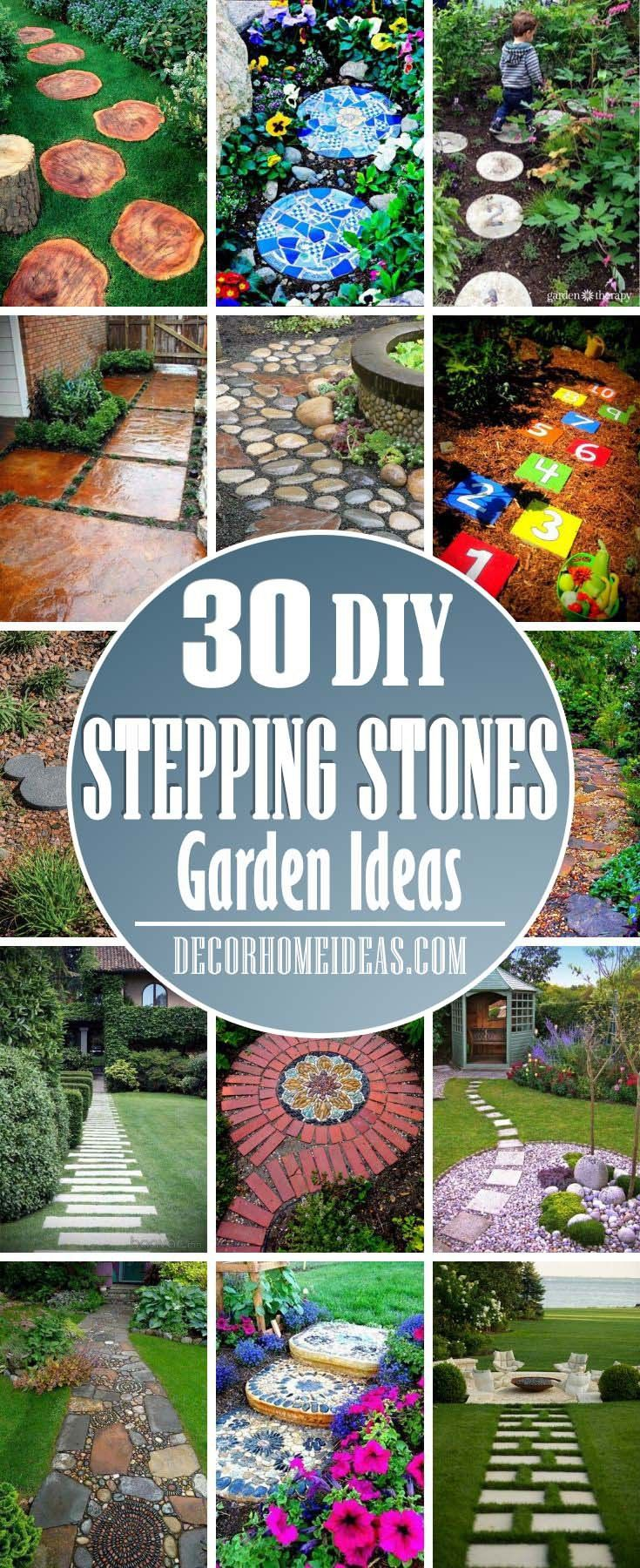30 Best Stepping Stones Ideas For Your Backyard Decor Home Ideas Garden Stones Stepping Stones Garden Stepping Stones Backyard diy stepping stones