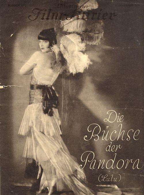 "Lulu -title page of the Pandora's box "" Die Büchse der Pandora"" program in the series Illustrated Film Kurier, Berlin, 1929,  ( louise br..."