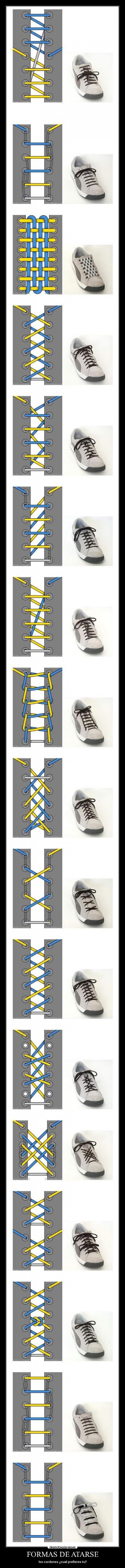 carteles zapatos cordones formas atar guay desmotivaciones
