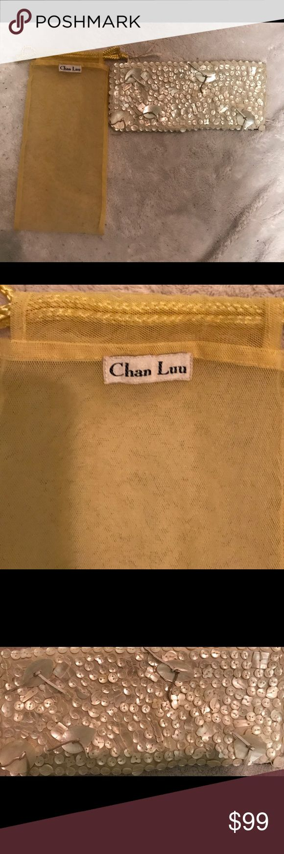 Authentic Chan Lu baguette 👛 Irradecent shells sewn on baguette, used a couple of times. Great condition! Chan Luu Bags Clutches & Wristlets
