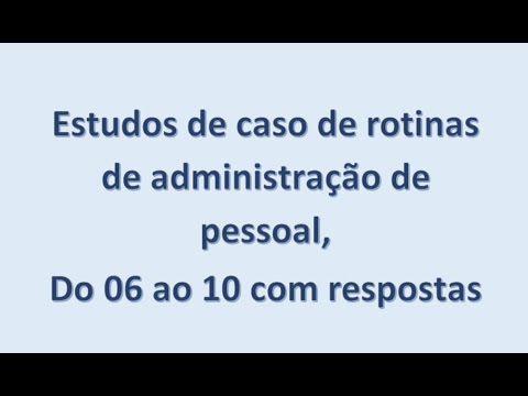 Estudos de caso de 06 a 10 Para quem não assistiu ainda. #departamentopessoal #administraçãodepessoal