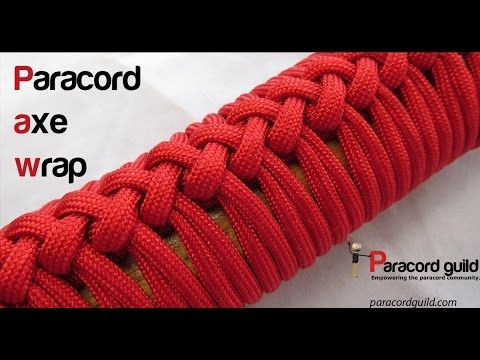 How To Make A Paracord Axe Handle Wrap Video Paracord Paracord