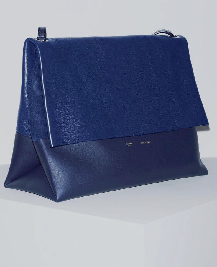 Navy Blue Celine fold-over leather #clutch | Bags | Pinterest ...