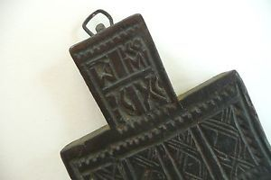 Antique-Greek-Orthodox-Cross-Carved-Wood-Bread-Blessing-Bread-Stamp