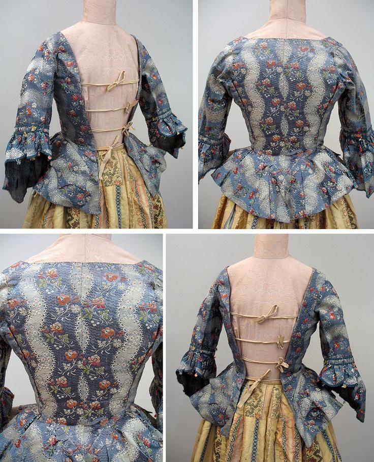 mid 18th c. casaquin, more photos: Costumes Historiqu, Fabric Patterns, Fabrics Patterns, 1700S, 1700 1760, Caraco Jackets, Costume Historique, Photo, 1700 S