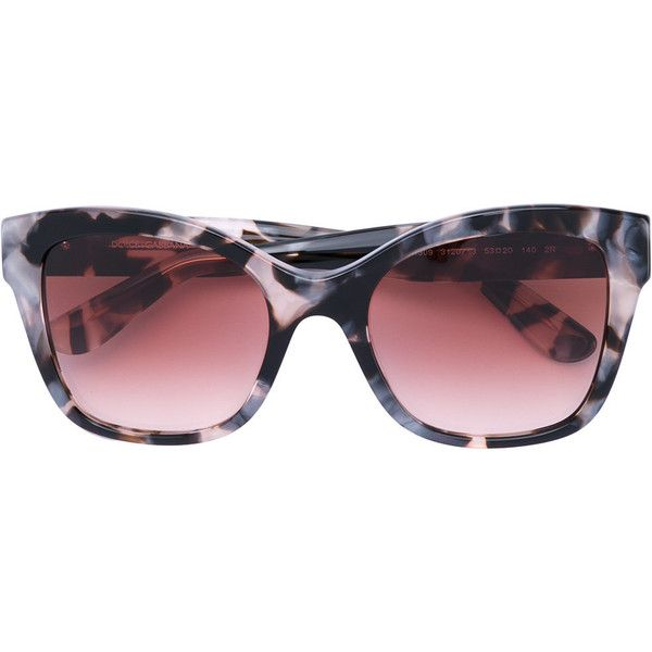 Dolce & Gabbana tortoiseshell-effect sunglasses ($340) ❤ liked on Polyvore featuring accessories, eyewear, sunglasses, black, acetate sunglasses, dolce gabbana sunglasses, acetate glasses, tortoise shell glasses and tortoise shell sunglasses
