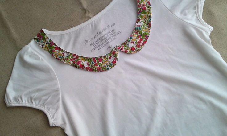 ハローキティ×リバティで襟付きTシャツの作り方|リメイク|その他|ハンドメイド・手芸レシピならアトリエ