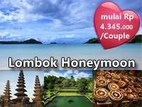Lombok Honeymoon Package. Options available are 3D2N, 4D3N, and 5D4N