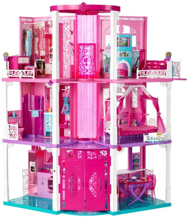 Stop everything: Barbie's latest pink pad has two elevators. And one is just for her clothes (so they can travel seamlessly from her wardrobe to the bathroom, of course). We're moving in.  A Look Back at Barbie's Dreamhouse - Barbie's Dreamhouse Through the Years - Good Housekeeping