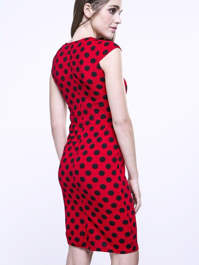 Vintage Polka Dot Bodycon Dress - fashionMia.com