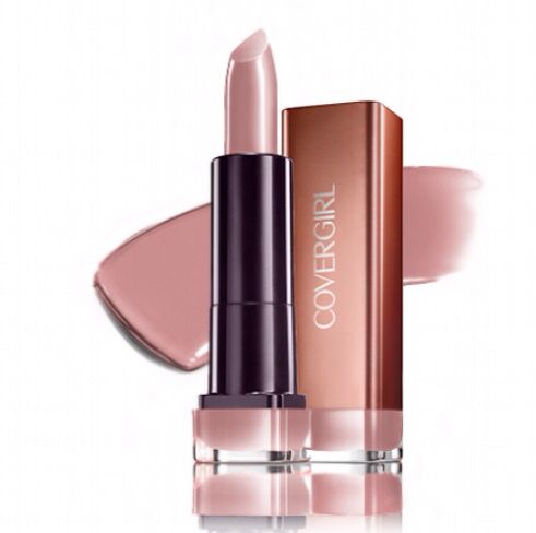 Covergirl lipstick in Honey Bloomed. Perfect light pink. Not too pink, perfect for a nude lip.