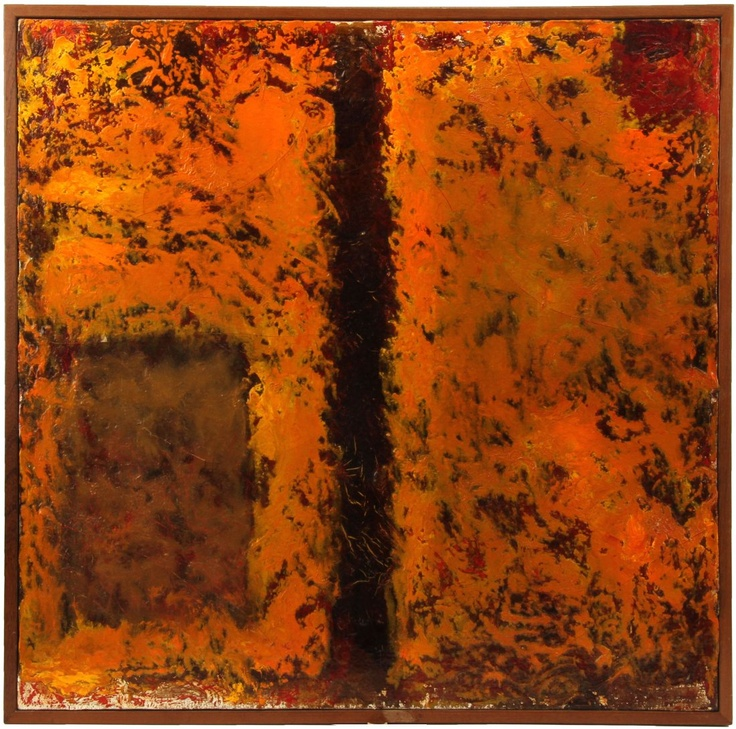 """JEAN ALBERT MCEWEN 1961 ORIGINAL OIL ABSTRACTION  Jean Albert McEwen (Canadian, 1923-1999), Canadian Abstractionist, oil on canvas, signed and dated on reverse (""""McEwen"""" Oct.-61). With gallery label and stamp from the Kastel Gallery, Montreal."""