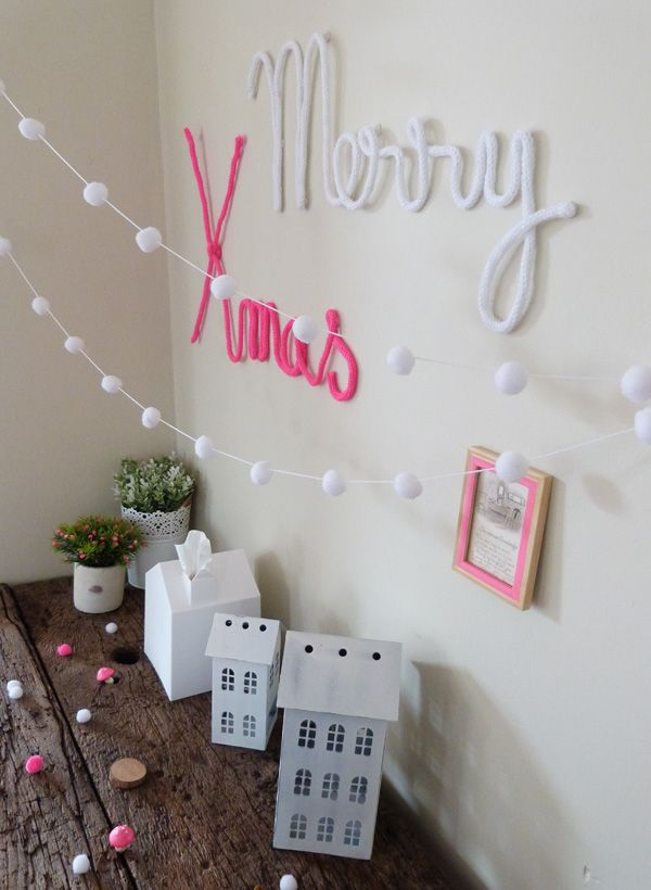 Noël blanc, bois et fluo