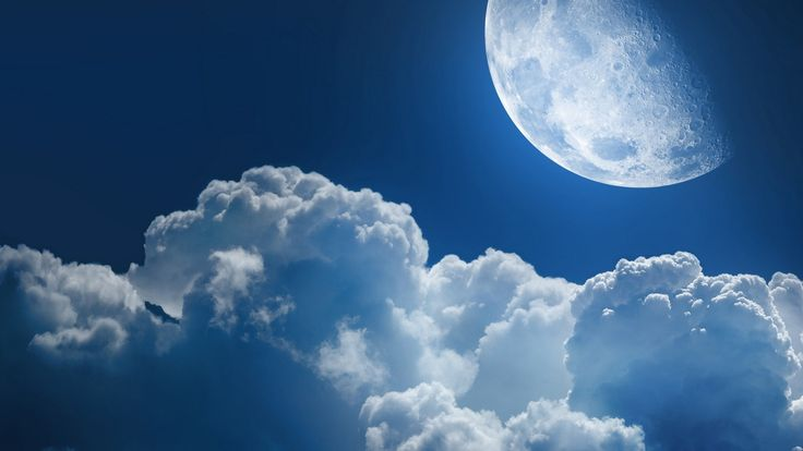 moons and cloud cool free wallpapers for desktop