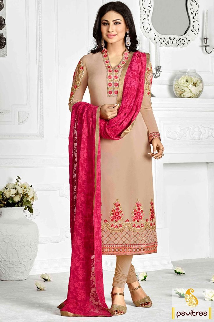 Naagin Serial Actress Mouni Roy Salwar Suit in #Peach Color #TvActresssalwarsuit, #shivanyadresses, #mouniroysalwarsuits More : http://www.pavitraa.in/catalogs/indian-television-celebrity-dresses-online/?utm_source=mk&utm_medium=pinterestpost&utm_campaign=20May
