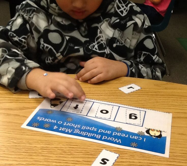 Working on word building with winter word building.