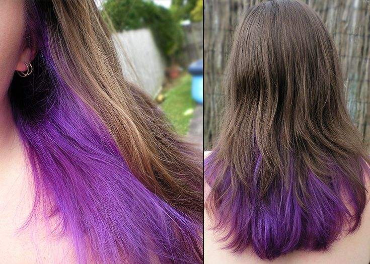 light brown hair with purple tips this is how it turned