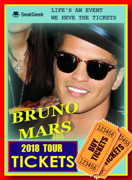 2020 Bruno Mars Tour BRUNO MARS   The easiest way to buy concert tickets (seller