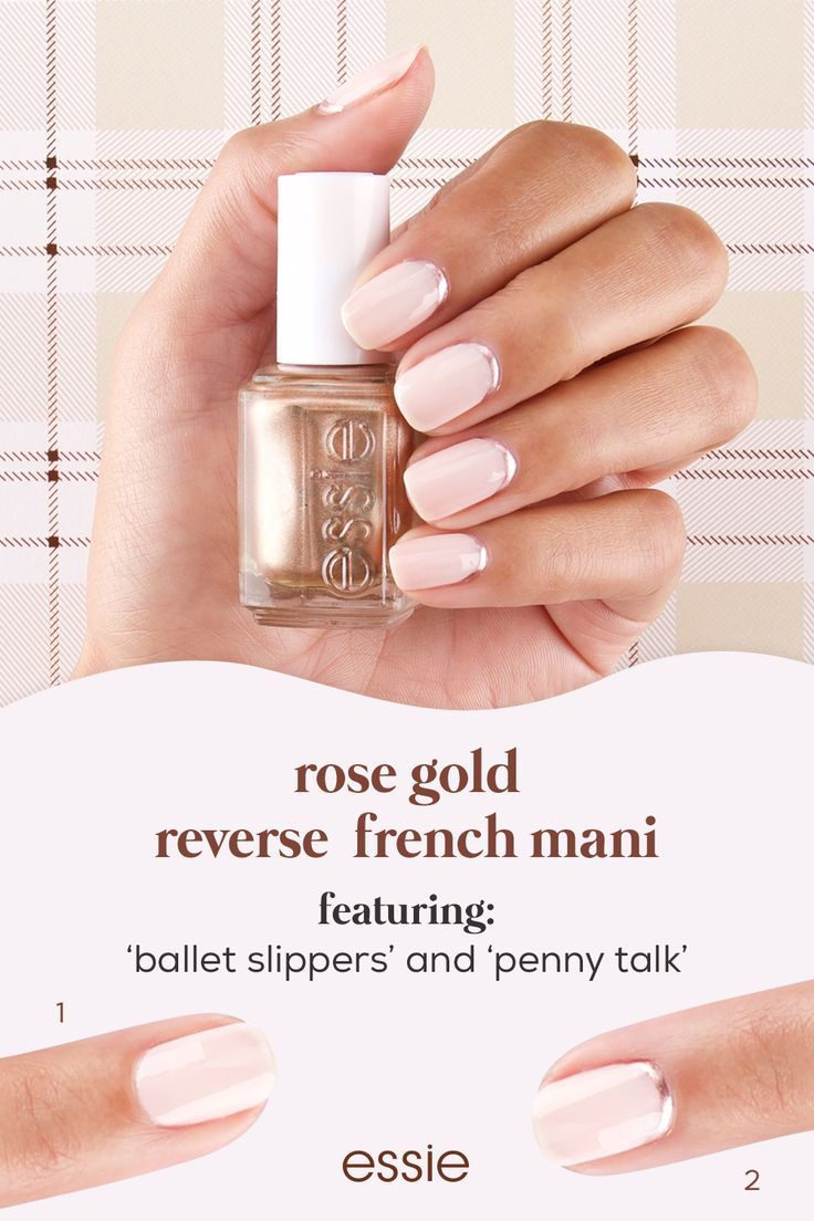 a simple yet glam reverse french mani for the holi…