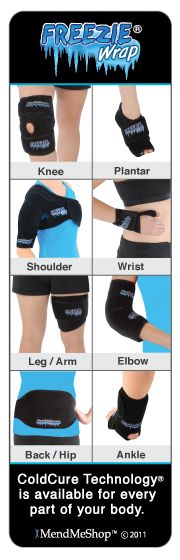 The Freezie Wrap treats pain, swelling and inflammation while reducing tissue damage.